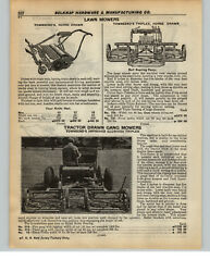 1937 Paper Ad Townsendand039s Tractor Drawn Gang Lawn Mower Golf Course Park Horse