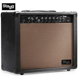 New Stagg 40 Aa R Usa Acoustic Guitar Amplifier With Spring Reverb + 10 Speaker