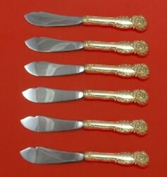 La Reine By Reed And Barton Sterling Silver Trout Knife Set Hhws 6pc Custom