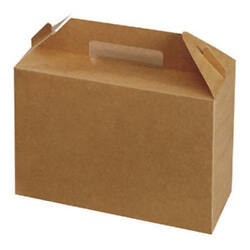 Bakery Box Brown Kraft White Carry Food Favour Birthday Gift Party   Large Small