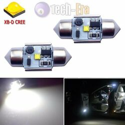2pcs White High Power 5W 31mm DE3175 CREE LED Bulbs For Interior Dome Map Lights