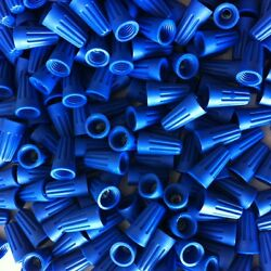 Blue Wire Connector Bulk Bag Of 1000 Nuts Twist Type