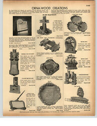 1942 Paper Ad 3 Pg Ornawood Creations Statue Of Liberty Ash Tray Wall Plaque