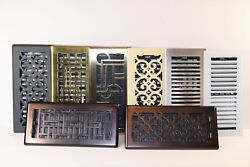 Decor-grates-floor-register-steel-metal-air-vent-scroll-size-inch 2x12 4x10in.
