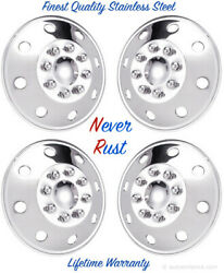 16 Chevy Chevrolet Trucks Stainless Steel Snap On Wheel Rim Hubcap Covers Set Andcopy