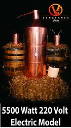 40 Gallon 5500 Watt Electric Copper Moonshine Still Complete Kit W/ Worm And Thump