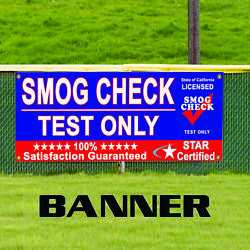 Smog Check Test Station Mechanic Auto Ship Star Certified Fog Vinyl Banner Sign