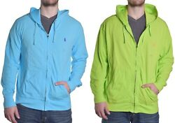Polo Hoodie Men's Big And Tall Zip Up Choose Color And Size