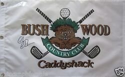 Chevy Chase Autographed Autograph Signed Caddyshack Bushwood Golf Pin Flag Ssg