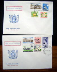 Cook Islands First Airmail Stamp Issue 2 Fdc Rarotonga 1966
