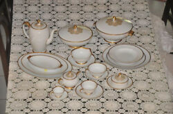 Rosenthal Fine China Dinnerware Classic Rose Gold Rosette Excellent Condition