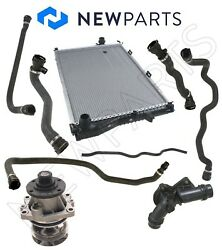 For Bmw E39 5-series Radiator Water Pump Hoses Thermostat Cooling Repair Kit