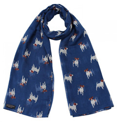 Jack Russell Terrier Dog Print Ladies Fashion Scarf