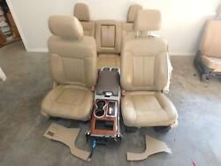 09-14 FORD F150 FRONT REAR SEAT CONSOLE TAN LEATHER HEATED & COOLED MEMORY POWER