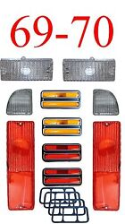 69 70 Chevy 10pc Tail Light, Deluxe Side And Clear Parking Light Kit C/k Truck