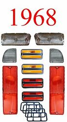 68 Chevy 10pc Tail Light, Deluxe Side And Clear Parking Light Kit C/k Truck