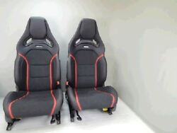 Mercedes-Benz Front AMG LeatherAlcantara Seats with red stitch. for A45; CLA45