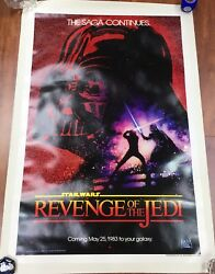Original Star Wars Revenge of the Jedi Movie Poster 27