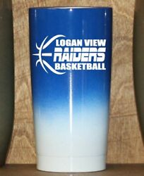 Personalized Powder Coated Tumbler W/ Basketball Team Decal.choose Colors.