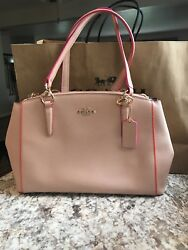 Multi edge small Christi NudePink Coach purse