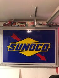 Sunoco Sign 5andrsquo0andrdquo X 3andrsquo0andrdquo Red Blue And Yellow