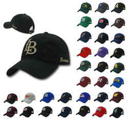 Official College Ncaa Relaxed Cotton Low Crown Dad Caps Hats Universities Teams