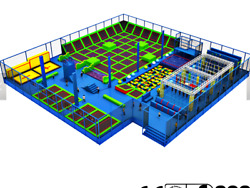 6000 sqft Commercial Trampoline Park Ninja Course Climbing Wall Gym We Finance