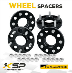 4x 15mm 5x4.5 To 5x114.3 Wheel Spacer Adapters 12x1.25 Fit For 350z Infiniti G35