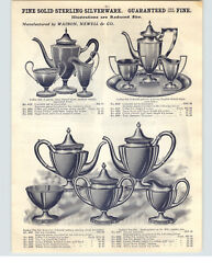 1910 Paper Ad Watson Newell And Co Sterling Silver Tea Coffee Sets