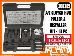TOLEDO 308389 - AC CLUTCH HUB PULLER & INSTALLER KIT - 13 PC - FLANGE SCREWS