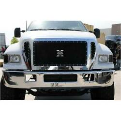 T-rex Black X-metal 4pc Studded Main Grille Bumper Insert For Ford F-650 04-09