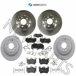 For Porsche Cayenne Front And Rear Brake Rotors W/ Pads+sensor And Hardware Kit Oem