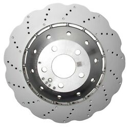 For Audi Rs5 R8 Front Left Or Right Steel Drilled Vented 365 X 34 Mm Brake Rotor
