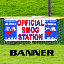 Official Smog Station Test Only Smog Check Advertising Vinyl Banner Sign