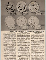 1954 Paper Ad Stangl Pope Gosser Brock Of California China George Pussy Willow