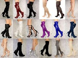 Lot 30 Pairs Wholesale Women Mixed Boots Booties Thigh High Platform Shoes