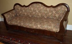 Antique Empire Sofa. 80 X 28 X 35 Nice To Look At And Good For Extra Seating.