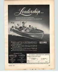 1949 Paper Ad Plycraft 18' Runabout 16' Canoe 15' Outboard Motor Boat