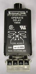 Time Mark Signaline 330 H 1.0min 10 Amp Operate Delay Timer Timing Relay W/ Base