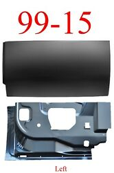 99 15 2pc Left Rear Door Inner And Outer Bottom Super Duty Extended Cab Truck