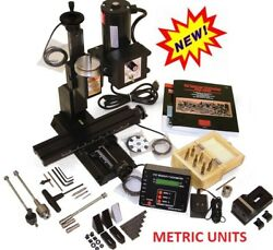 Sherline 5410a-dro Metric Deluxe Mill Package A. Oil Reservoirs On All Axes.