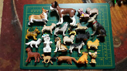 Lot of 22 Mixed Dogs Canines Many Different Breeds Terrier Collie Chihuahua Pug