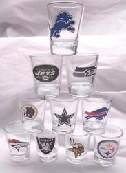 Nfl 2 Oz Shot Glass With Team Logo By The Memory Co. Select Team Below