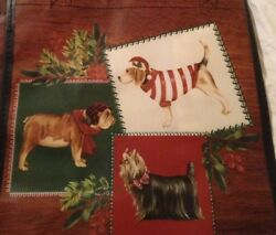 TJ MAXX Christmas Holiday YORKIE YORKSHIRE TERRIER Shopping Bag Reusable Tote