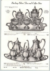 1941 Paper Ad Sterling Silver Tea Coffee Sets Hand Chased Baltimore Dian A