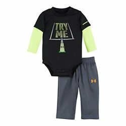 Under Armour Newborn Boys` Bodysuit and Pant Set