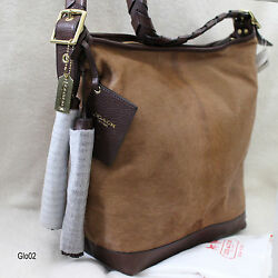 NWT COACH LEGACY HAIRCALF LEATHER CAMELTAN LARGE DUFFLE SHOULDER BAG PURSE NEW