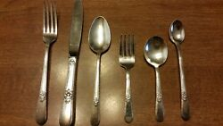 Vintage 1930 Wm.a. Rogers And Sons 6 Pc Baby/ Child Set