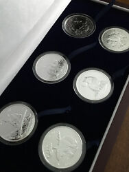 Set Of 6, 1 Once Silver Canadian Wildlife Series Coins, Brilliant - Uncirculated