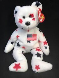 Andldquoglory1997 Ty Beanie🔥babybear🔥authenticated/rare/retired🔥usa Exclusive🇺🇸